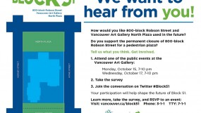 Block 51 (Robson Sq & Art Gallery) Events & Consultation