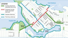 Hornby Bike Lane Proposal - Map