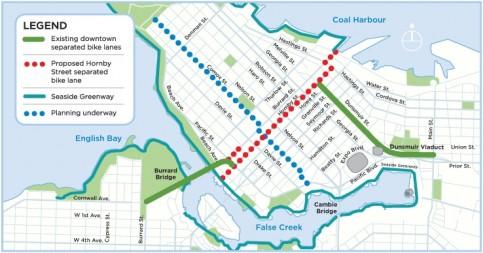 Hornby Bike Lane Proposal - Map