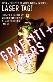 Laser Graffiti Poster