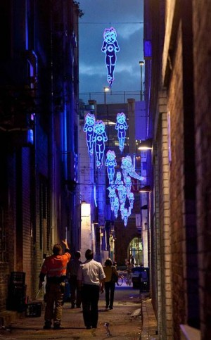 Sydney Lane Neon. Image Credit. ASPECT Studio