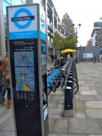 Barclay Cycle Hire in London.  Image by Jason Paris