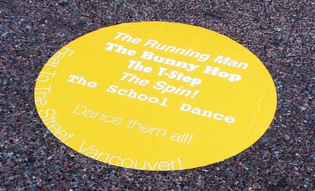 May we have this dance? A new Feet to the Street decal invites you to practice your moves on Granville Street!