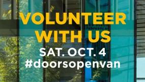Doors Open Vancouver - one of several great volunteer opportunities.
