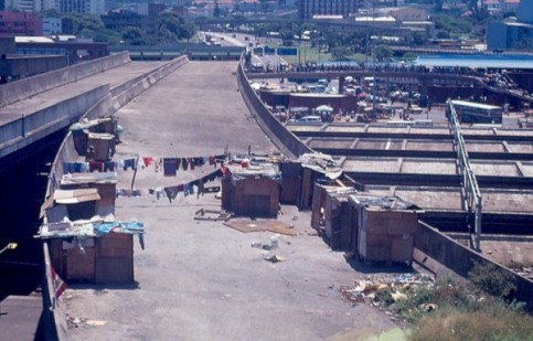 Abandoned overpass that is now the Muthi Market