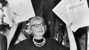 Jane Jacobs holding VPSN volunteer job descriptions