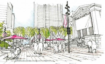 Robson Square redesign concept