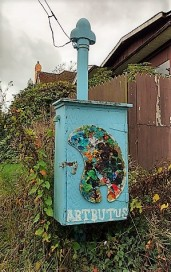 """Artbutus"": Street art along the Arbutus Greenway calls for more/photo by Naomi Reichstein"
