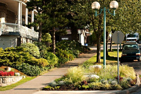 The Green Streets program invites Vancouver community members to plant gardens on corner bulges and traffic circles. Photo: City of Vancouver