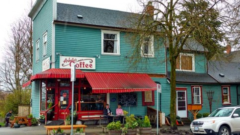 Photo of Arbutus Coffee house. Human stories give character to the places we value. Photo: Naomi Reichstein