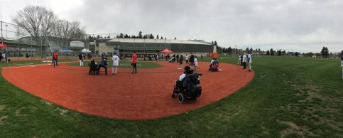 Challenger baseball field: design for people with mobility challenges, such as wheelchair-accessible artificial turf and raised obstacles removed. Photo: City of Vancouver