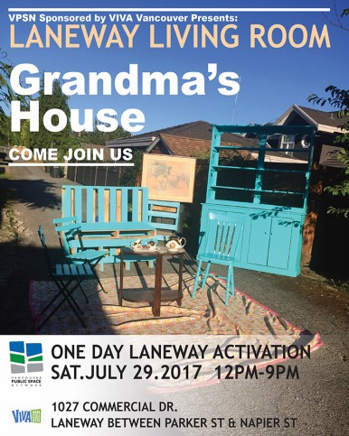 Join us Saturday, July 29th at Grandma's House!