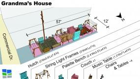Laneway Living Room - Grandma's House Site Plan