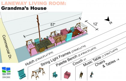 Laneway Living Room - Grandma's House Site Plan