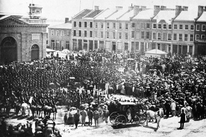 Reading of the Proclamation of Confederation, Springer Square, Kingston ON, 1867.