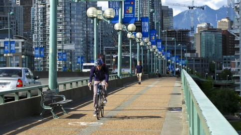 Cambie Bike Lane - by Gary Howe flickr MyWheelsareTurning