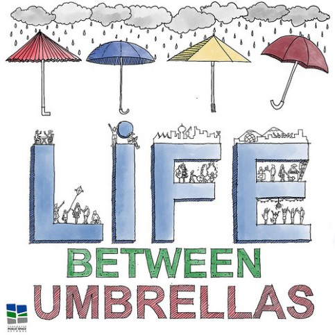 Life Between Umbrellas - Hand Drawn