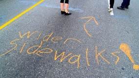 wider sidewalks