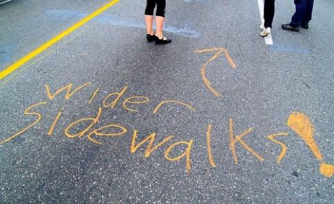 wider sidewalks