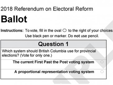 proportional Rep ballot 2