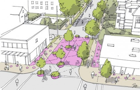 Flanking Street - Converted to New Public Space (Image: Derek Lee, PWL Partnership)