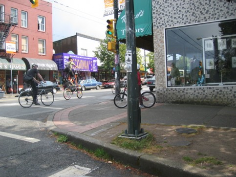 The Commercial Drive neighbourhood is home to lots of cyclists. Photo by Roland Tanglao