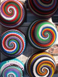 Bead Market Recycled telephone wire baskets