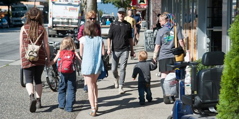 People walking on Commercial Drive. Credit: City of Vancouver