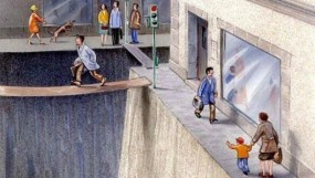Pedestrian Street. Illustration by Karl Jilg.