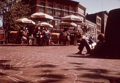 Maple Tree Square - patio seating - 1970s.