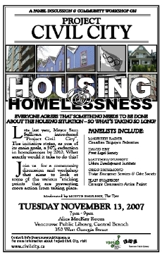 Civil City Housing Workshop - Poster