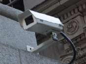 A picture of a surveillance camera on Granville Street.